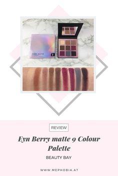 Hier seht ihr die Swatches der Eyn Berry matte 9 Colour Palette von Beauty Bay. Die Review zu der Palette findet ihr auf meinem Blog :)   #swatches #lidschatten #eyeshadow #beautyblogger #berry #beerentöne #palette Beauty Bay, Berry, Swatch, Eyeshadow, Blog, Eye Shadow, Bury, Eye Shadows, Blogging