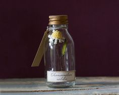 Decorative Textile Art Crochet Flower Bottle by SueNichollsDesigns