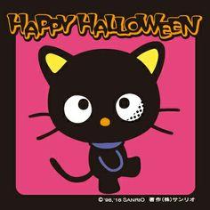 Happy Halloween : Chococat Source: sanrio.co.jp Hello Kitty Halloween Costume, Spooky Halloween, Halloween Ideas, Happy Halloween, Halloween Party, Halloween Costumes, Funny Faces, A Funny, Sanrio