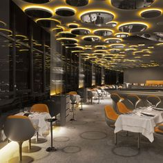 French designer Noé Duchaufour-Lawrance has fitted out a restaurant at the top of the tallest skyscraper in central Paris.