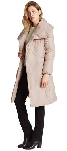 MARKS & SPENCER PER UNA Padded & Quilted Duvet Coat T49/3816.  UK16 EUR44  MRRP: £99.00GBP - AVI Price: £90.00GBP