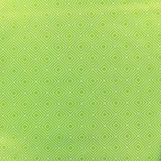 Tissu coton Poppy Square - blanc/vert clair x 10cm