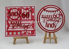 Tinyrose's Craft Room: Football themed 60th Birthday Card and Cake Topper for a Saints Fan 60th Birthday Cards, Birthday Sentiments, Happy Birthday, Glitter Cards, Red Glitter, Have A Good Weekend, Small Cards, Christmas Paper, How To Make Cake
