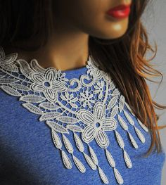 Lace necklace women accesories bib collar necklace by selenayy