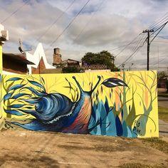 Andar. #caracol #mural #arteurbano #streetart #morris by fio.silva