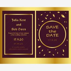 wedding,wedding invitation,invitation,card,design,template,layout,graphic,save the date,decoration,print,date,marriage,romantic,golden,vector,front,back,two cards,sample,print material,set,illustrated Invitation Card Design, Wedding Invitation Templates, Invitation Cards, Wedding Invitations, Red Rose Wedding, Business Events, Geometric Lines, Wedding Menu, Printed Materials