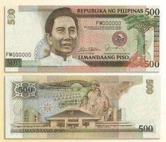 500 peso Marcos bill  http://eventplannerphilippines.blogspot.com/2014/08/seeking-inspiration-for-event-party-menu.html