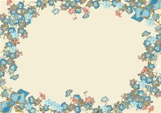 FREE printable ✐✐✐ writing paper ✐✐✐ with vintage flower frame: forget-me-not