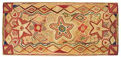 "This is the original antique rug Circa early 1890's.  I call it ""Antique Stars""."