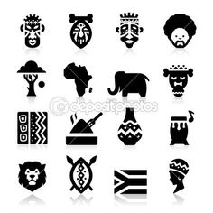 아프리카 문화 아이콘 — Stock Illustration #38601963