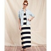 Tommy Hilfiger Striped Maxi Dress & Chambray Shirt Striped Maxi Dresses, Women Brands, Chambray, Tommy Hilfiger, Style Me, Dresses For Work, Glamour, Womens Fashion, Clothing