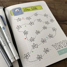 Weight Loss Tracker for Bullet Journal. #Bujo #PoundsGoAway #WeightGoals
