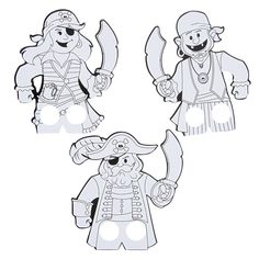 Color Your Own Pirate Finger Puppet - OrientalTrading.com