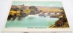 East Farleigh Lock at Maidstone - Kent - Antique Postcard Postcards, Antiques, World, Painting, Art, Antiquities, Art Background, Antique, Painting Art