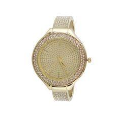 Shyanne® Women's Rhinestone Encrusted Cuff Watch