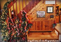 Log Cabin Come Sit a While Christmas Makes Me Feel Emotional