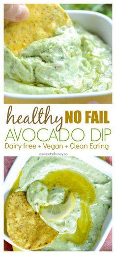 Dairy free Avocado Dip | Vegan Avocado Dip | Easy Avocado Dip Recipe | Clean eating avocado dip | Gluten free dip | Skinny dip | Healthy dip