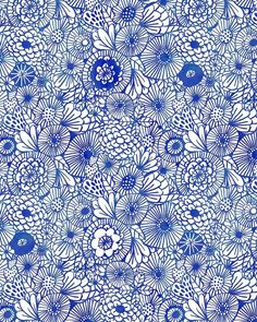 This week: another pattern (and I'm a day late posting since yesterday was a holiday).  Enjoy!  To view all of my Experiments in Blue, just go here.