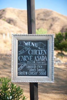 Custom Chalkboard Wedding sign. $85.00, via Etsy.