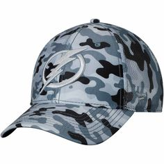 6fede3ac322 Men s Tampa Bay Lightning Fanatics Branded Camo Gray Urban Trucker  Adjustable Hat
