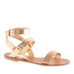 Jcrew gold sandals 40% off #4thofJuly