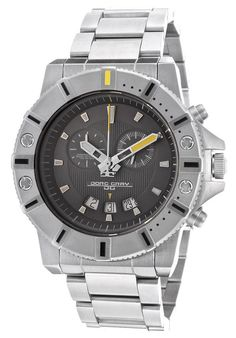 Image for Men's Chrono Stainless Steel Gunmetal Textured Dial from World of Watches