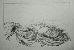 Hair and wave...pencil sketch #adywicaksono