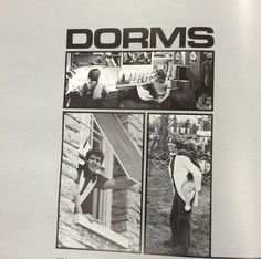 """In 1975, the """"Dorms"""" section returns to the yearbook. After the turmoil of the 60s, with more growth both in halls and students, dorms begin to move to a more important role in student life. 1975 #MiamiUniversity #MUArchives #OxfordOH #Recensio"""
