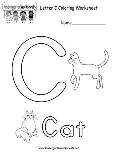 Letter D coloring worksheet for kids in preschool or kindergarten ...
