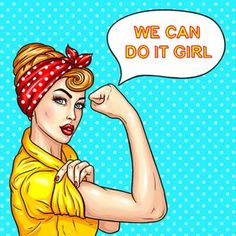 Vector pop art illustration of an attractive confident woman housewife demonstrating her strength by roll up her sleeve. Motivating poster with a housewife talking We can do it, girl Art And Illustration, Pop Art Vector, Adobe Illustrator, Pop Art Bilder, Pop Art Women, Image Hd, Pop Art Wallpaper, Pop Art Girl, Art Textile