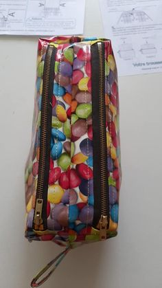 Trousse Zip-Zip à bonbons cousue par Sandrine - Patron Sacôtin