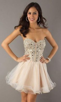 37069d2f6a Rhinestone Embellished Sweetheart Cocktail Dress Pink Semi Formal Dresses