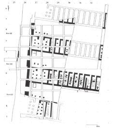Les écuries de Pi-Ramsès. Qantir. Source : The Topography of New Kingdom Avaris and Per Ramesses | Irene Forstner-Müller - Academia.edu