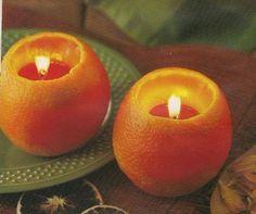 Idee Regalo  Fai da Te , candele nell'arancia