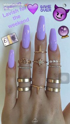Having short nails is extremely practical. The problem is so many nail art and manicure designs that you'll find online Sexy Nails, Dope Nails, Fun Nails, Gorgeous Nails, Pretty Nails, French Nails Glitter, Nagel Gel, Purple Nails, Purple Glitter