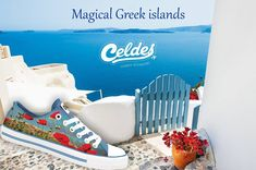 Casual high quality canvas shoes with famous destinations from around the world. Good Morning Sunshine, Greek Islands, Poppies, Greece, Finding Yourself, Around The Worlds, Canvas, Greek Isles, Greece Country