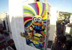 Kobra cria mural dos Minions no Rio de Janeiro para promover o filme