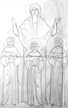 Прориси / Фотоальбомы / Слово - изографам  Heilige Sofia en haar drie dochters, Geloof, Hoop en Liefde