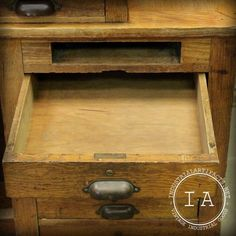 Vintage Industrial 7 Drawer Swing Stool Wooden Drafting Table School Antique