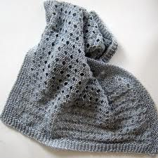 Vintage style knitted baby blanket
