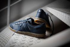 Adidas Hamburg Mineral Blue / Metallic Silver Via 43einhalb #Adidas #Inside #Sneakers