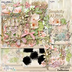 Simplicity Collection by Palvinka Designs | Digital Scrapbook @ at The Digichick