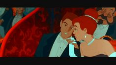 Anastasia and Dimitri at the Russian Ballet in the animated film 'Anastasia'