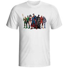 Justice League T Shirt Batman Wonder  Aqa Man Flash Green Lantern Novelty T-shirt DC Comic Fashion Skate Man Summer Tee Shirts #Affiliate