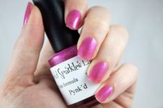 Pynk'd, Bright pink base w/ micro & ultra fine glitters by My World Sparkles Lacquers - Handmade 5-Free Indie nail polish - Full size 1/2 oz - pinned by pin4etsy.com