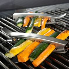 These Stainless Steel Grill Clips keep your veggies where they belong – on the grill, not in it.