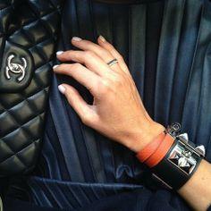 City meetings by tashsefton Elle Ferguson, Leather Cuffs, Chanel Ballet Flats, Work Wear, Jewelry Accessories, Vogue, Bling, Street Style, Jewels