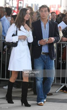 Kate Middleton With Younger Brother James Arrive At The Concert For Diana At Wembley Stadium In London..