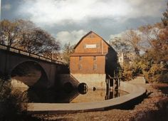 A much later photo of the Williams mill with very little water in the Vermillion River - Pontiac, Illinois. This is one of the better photos of the old Mill
