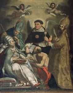 San Tommaso d'Aquino con San Gregorio Magno, Sant'Ambrogio, San Girolamo